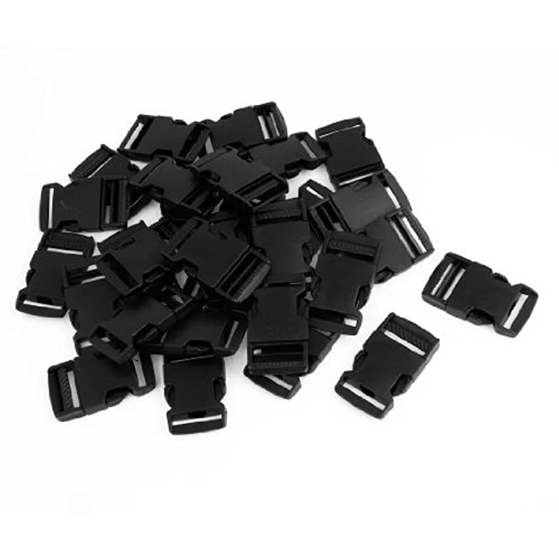 uxcell Plastic Side Release Buckle for Belt Strap 2.5cm Width 30 Pcs Black