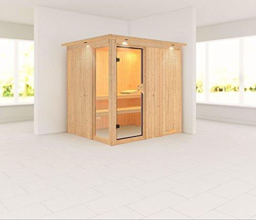 Palin - Karibu Sauna ohne Ofen - mit Dachkranz -