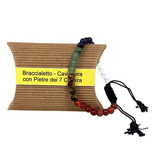 8 Chakra-armband - Enkelband-armband - helende armband voor yoga en meditatie - voor dames en heren