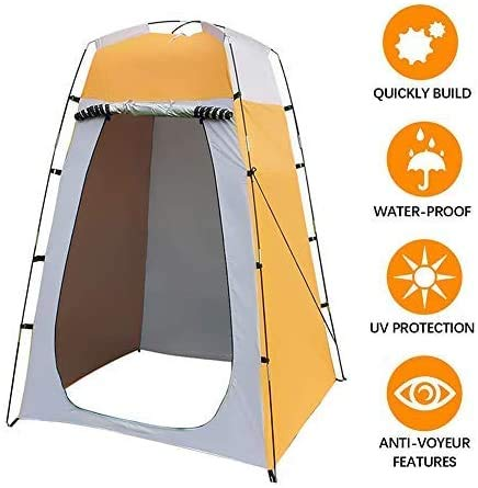 Premewish Outdoor Privacy Tent For Changing Dressing/Shower/Toilet - Portable Pop Up Changing Room - Mobile Shower Tent - Instant Installation, Foldable, Waterproof, 120x120x180cm, With Carry Bag