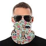 Nother Verano Yorkie Bandana Máscara facial – Protección contra el polvo del sol UV polaina para el cuello – Para correr, senderismo, motociclismo y ciclismo bufanda blanca