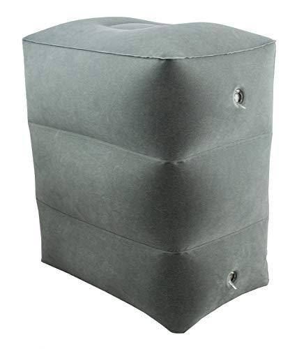 ObboMed HR-7330 aufblasbares Reise-Fußruhekissen, faltbares und in 3 Höhen verstellbares Kissen für Fußauflage, Entspannung oder als Auflage der Beine - voll aufgeblasen : 45 (H) x 42 (L) × 30 (W) cm