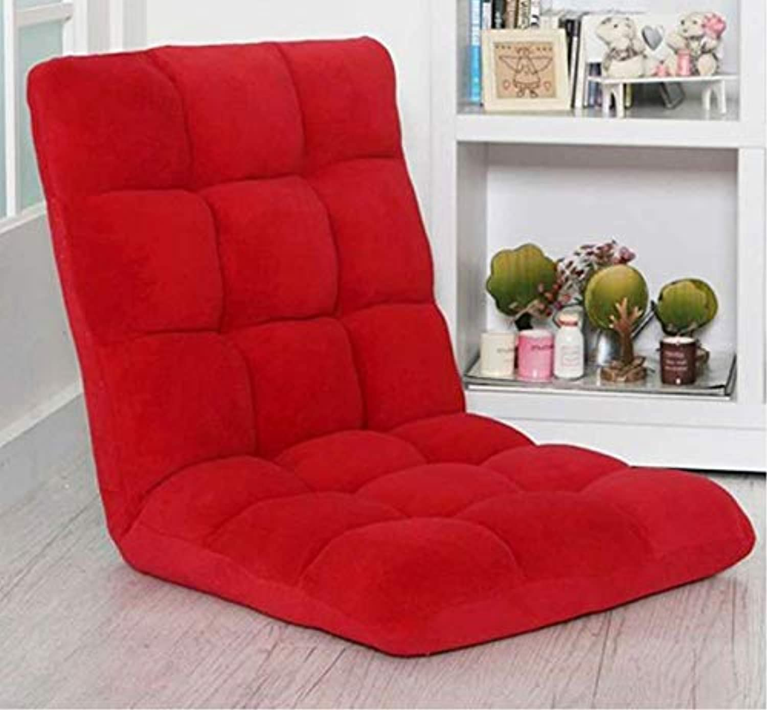 Varossa Reclining Yoga Chair Recliner Sofabed Red