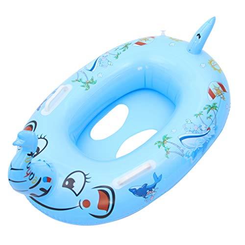 GEMVIE Flotador de Natación Elefante para Niños Niñas Juguetes Catoon Piscina Anillo Inflable Verano Talla Única Azul