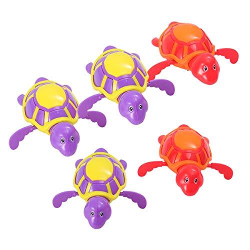 TOYMYTOY Uhrwerk Spielzeug Schildkröte Form Aufziehspielzeug für Kinder 5 Stück (Zufällige Farbe)