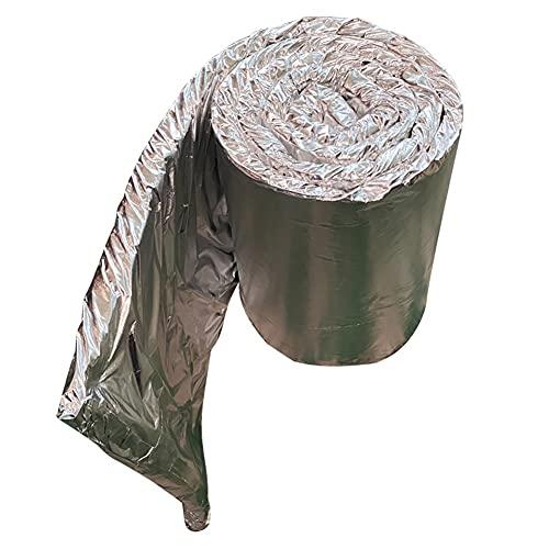 Manta De Aislamiento De Fibra Cerámica, Papel De Aluminio Revestido Impermeable Incombustible Fácil De Cortar para La Fragua del Horno De Horno, Revestimiento De Horno