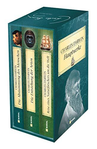 Charles Darwin Hauptwerke: 3 Bände im Schuber: Die Entstehung der Arten, Die Abstammung des Menschen, Reise eines Naturforschers um die Welt