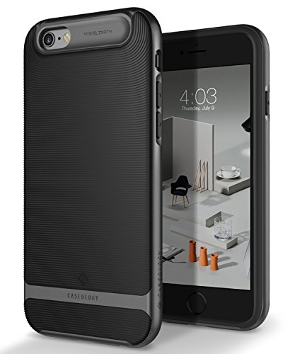Caseology Wavelength for iPhone 6S Case (2015) / iPhone 6 Case (2014) - Stylish Grip Design - Black - http://coolthings.us