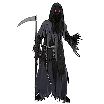 Halloween dress up costume for child boy Dark Knight Reaper costume (Small (5-7yr)) by