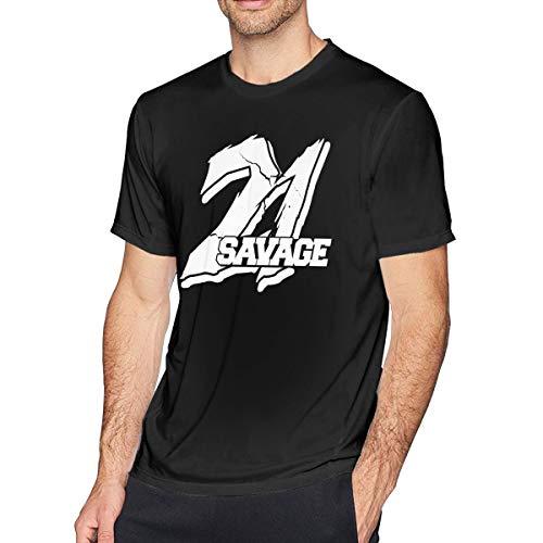 David Wollaston 21 Savage Logo Mens T-Shirt Black L