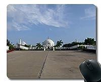 パーソナライズされたマウスパッド、人生の哲学、深い理解、ステッチエッジを持つBuddha Viharマウスパッド