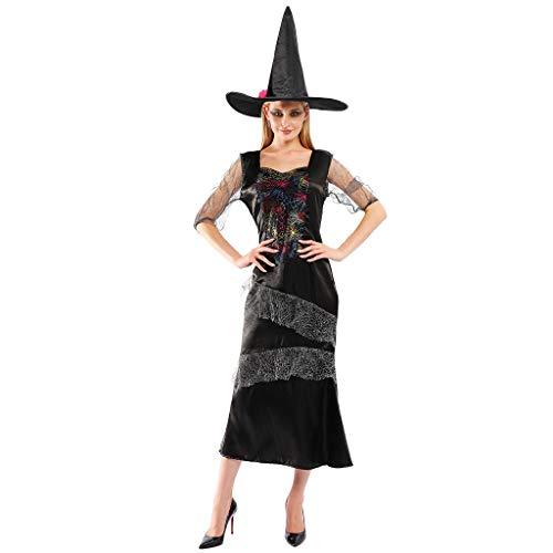 EraSpooky Disfraz de Bruja para Mujer Disfraces Cosplay Fiesta de Halloween para Adultas