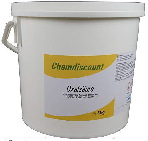5kg Oxalsäure Pulver (Kleesalz, Ethandisäure), min 99,6%, z.B. als Rostlöser