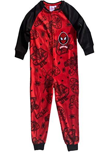 Spiderman Overall kuscheliger Kinder Jumpsuit Spielanzug Onesie Pyjama Schlafanzug Polar Fleece weich+warm Gr.98 104 116 128 (110)