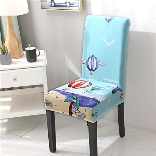 PCSACDF Elastische spandex stoelhoezen, beschermhoes, stretch bescherming, eetkamerstoel, stoelbekleding, voor banketten, party, print bruiloft, stoel universal 7