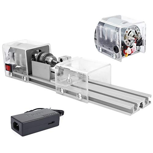 Amazing Deal Woodworking Lathe, 12-24V Mini Woodworking Lathe Beads Lathe Grinding Polishing Machine...