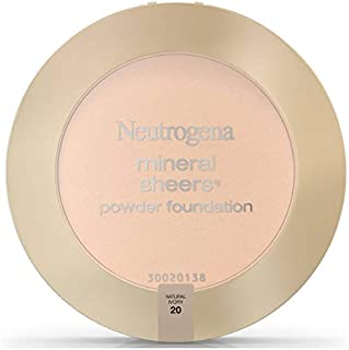 Neutrogena Mineral Sheers Compact Powder Foundation Spf 20, Natural Ivory 20,.34 Oz. (Pack of 2)