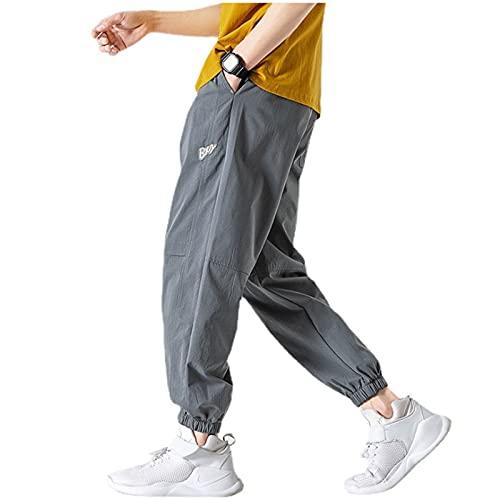 2021 Pantalones deportivos de algodón nuevos, pantalones de jogging de algodón con bolsillos, pantalones deportivos ligeros y cómodos, estiramiento transpirable. Pantalones para correr casuales