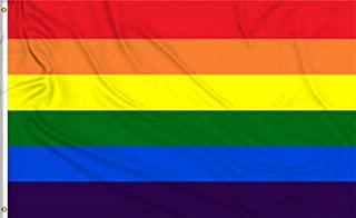 Aimto 3x5 FT Rainbow Flag - Bright Colors and Anti-Fading Materials - Gay Pride Banner Flag Polyester Canvas and Brass But...