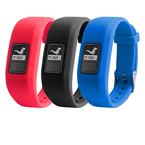 TMCCE for Garmin Vivofit JR Bands Replacement Silicone Bands for Garmin Vivofit JR with Secure Watch Clasp