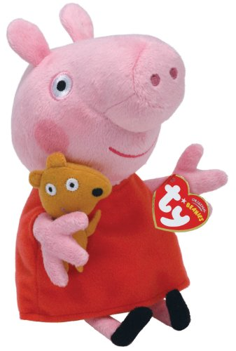 Ty Peppa Pig 20 Cm Animale Peluches Giocattolo 443, Multicolore, 8421461288