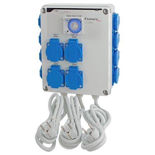Temporizador / Programador GSE Timer Box 12x600w 4x16A 230V (GSE-13)
