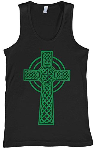 Threadrock Men's Green Celtic Cross Tank Top XL Black
