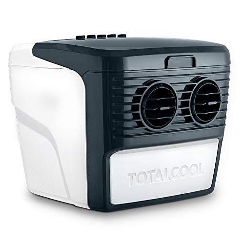 Totalcool 3000 Tragbarer Luftkühler und Luftbefeuchter, Verdunstungskühlung, geringes Gewicht, geringer Energieverbrauch, 12 Volt und Netzstrom, weiß/grau