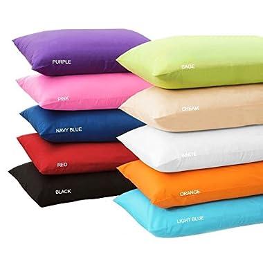 "Multi Colors - Body Pillow Cover Long Body Pillow Case %100 Cotton 20 x 54"" w/ ZIPPER (Soft Pink)"