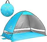 Tente de plage pop-up Lotus Wild - Tente de plage automatique extra légère - Protection UV - Portable - Pour camping, extérieur, barbecue, jardin, parc, pêche, plage, activités en plein air