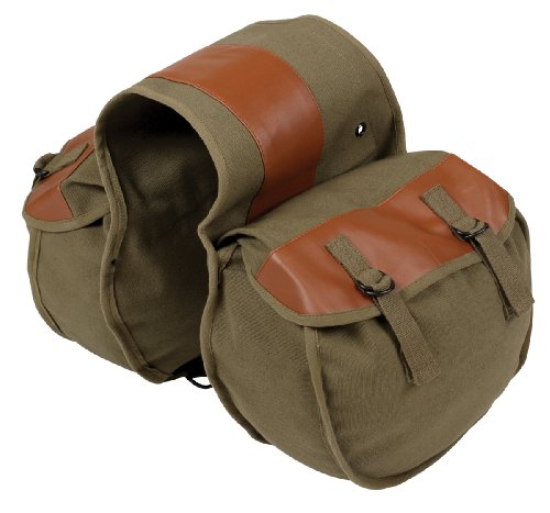 Why Choose STANSPORT - Canvas Saddlebag for Motorcycle, Travel, Etc. (Olive Drab)