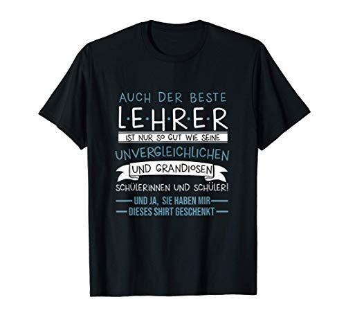 Bester Lehrer Pädagoge Schüler Schülerin Lehrerin Geschenk T-Shirt
