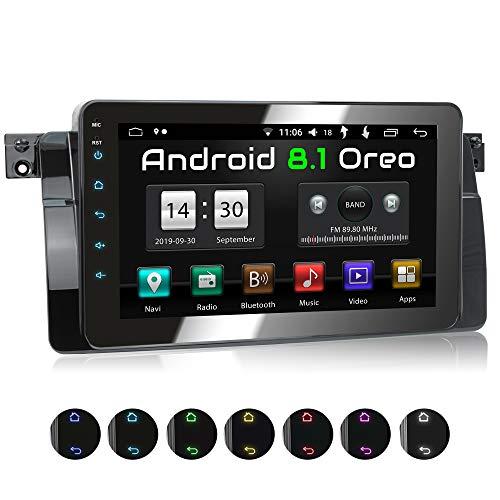 XOMAX XM-46BA Radio de Coche con Android 8.1 Adecuado para 3er BMW I 8 Core, 2GB RAM, 32GB ROM I GPS I Soporte WiFi, 3G, 4G, Dab+, OBD2 I Bluetooth I 8' Pantalla Táctil I USB, RDS