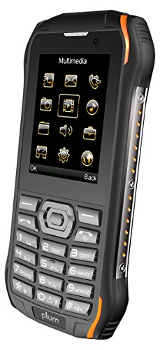 Plum Ram 7-4G Rugged Unlocked Cell Phone GSM - IP68 Certified Military Grade Water Shock Proof ATT Tmobile Cricket, Metro, Straight Talk, Consumer Cellular, Black Orange