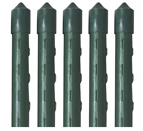 Novatool Pflanzstäbe grün Rankstäbe Rankhilfe Tomatenstäbe (5, 8x60)