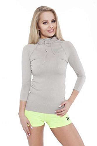 FA Sportswear Hoodie Woman Superstar Grey - M - Pullover - TRAININGSSHIRT - Kapuzenpulli