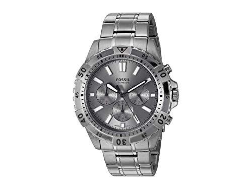 Fossil Garrett Chronograph Watch Fs5621 Smoke Stainless Steel One Size
