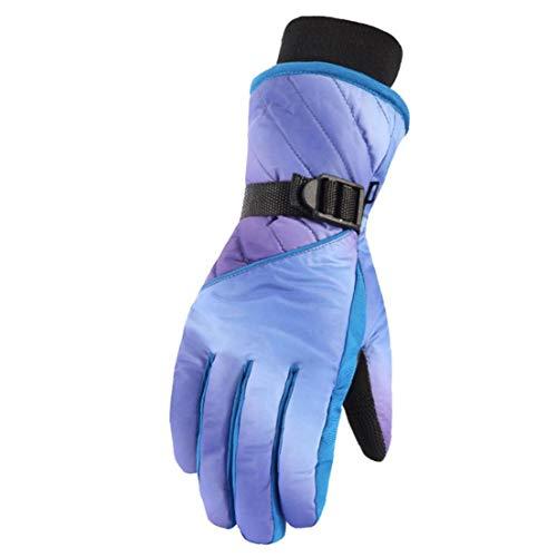 XKJFZ 1 Paar Frauen Touch Screen Handschuhe Winddichtes Thermal Fäustling Fahren Fäustlinge Radfahren Fäustlinge für Skifahren Wandern Laufen Dark Blue-Winter-warme Supplies