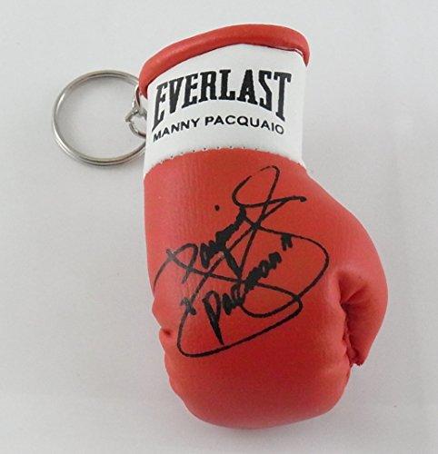 boxing memorabilia Signiert Mini Boxhandschuh Schlüsselanhänger Manny Pacquiao