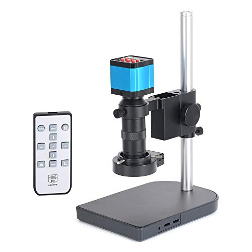 HAYEAR 14MP HDMI USB Industry Microscope Kit Camera Set Remote Control 100X C-Mount Lens Video Recorder 40 LED Ring Light