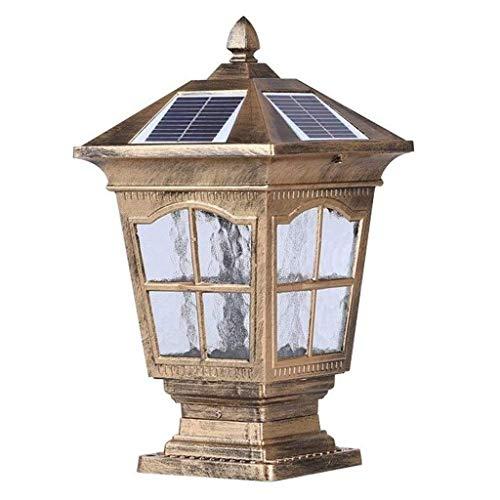 Buitenverlichting voor torzuilen solar-LED-tuinlicht waterdicht, European Villa Wand Super Bright buitenzuil straat gazon (9,06 × 16,93in)