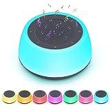 Venussar Ayuda para Dormir para Bebés y Adultos, 7 Colores Máquina de Ruido Blanco con Canciones de Cuna y Temporizador Automático