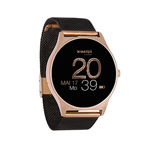 X-Watch 54030 Joli Xw Pro Smartwatch Dames Ios / Iphone, Fitnesshorloge, Android Met Whatsapp Info, Fluweelzwart