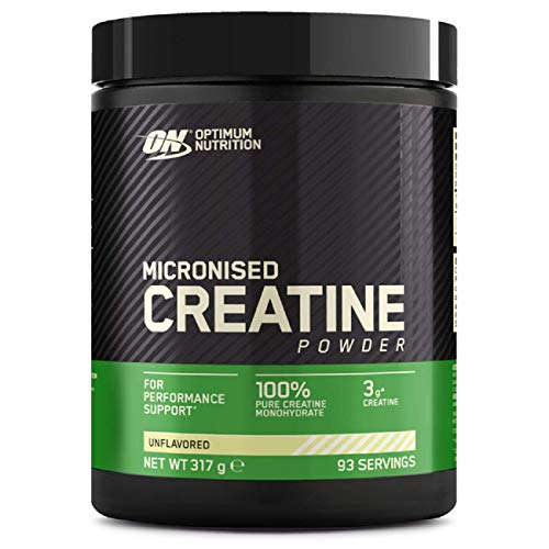 Optimum Nutrition Micronised Creatine Powder, Creatine Monohydrate Powder for Performance, Unflavoured, 93 Servings, 317 g, Packaging May Vary