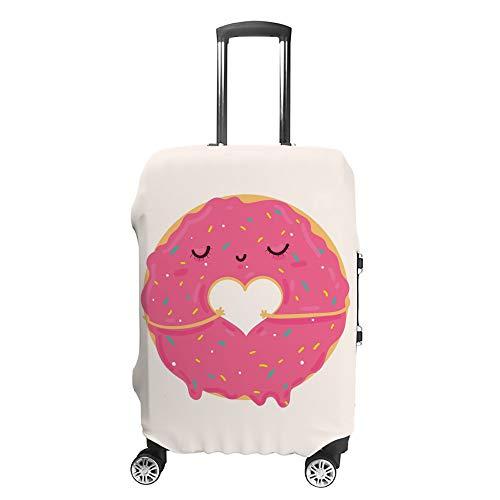HAOXIANG Reisegepäckhüllen, niedlich, Pink, Cartoon-Donut-Motiv, Schutztasche, waschbar