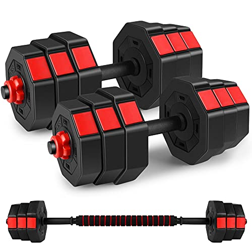 Kitclan Dumbbells Set, 44Lbs/66Lbs Adjustable Weight Set, Home Gym Equipment for Men Women Fitnrss Work Out Exercise Training Used as...