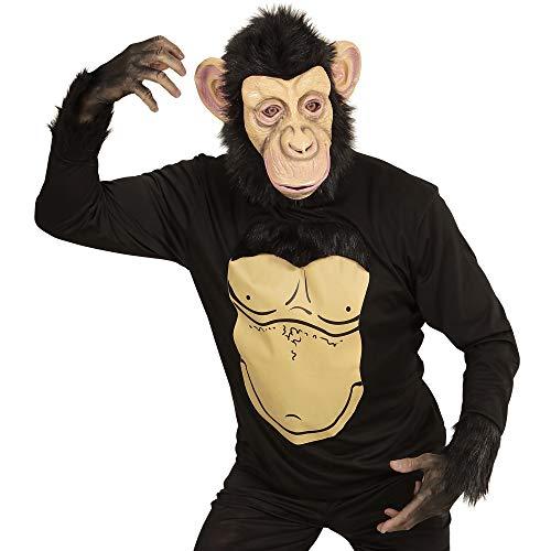Widmann chimpanse volwassenen kostuum X-Large bruin/zwart