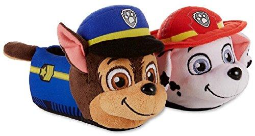Nickelodeon Paw Patrol Boys/Girls Chase & Marshall Slippers (7-8 M US Toddler, Multi)