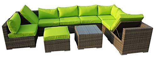 LYQZ Muebles de jardín modulares sofá de Mimbre ratán (Color : B)