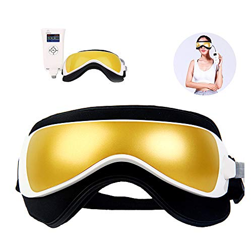 HWHSZ Eye Massager, Far Infrared Heating Massaging Goggles Music Magnetic Air Pressure Eye Massager, for Eye Futigue, Dry Eyes, Stress Relief, Best Gift,B